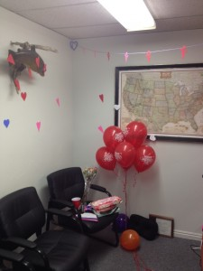 Dustin Jorgenson office V-day
