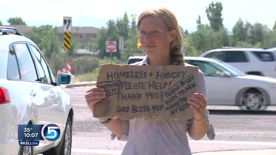 Courtesy KSL Television - Locker homeless post